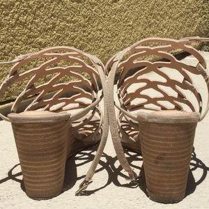 4502bbc4df0 Steve Madden Shoes - Steve Madden Taupe Suede Christina Wedge Sandal